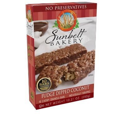 Sunbelt Bakery Fudge Dipped Coconut Granola Bars 10ct