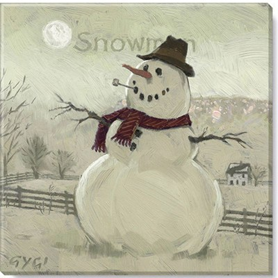 Sullivans Darren Gygi Sepia Snowman at Sunrise Canvas, Museum Quality Giclee Print, Gallery Wrapped, Handcrafted in USA