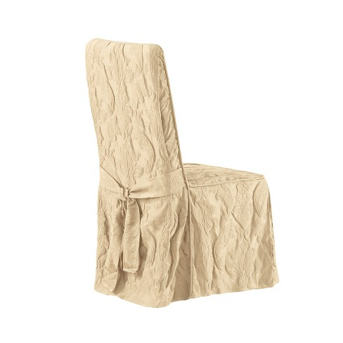 Matelasse Damask Dining Room Chair Slipcover Sure Fit Target