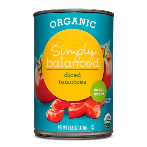 Organic Diced Tomatoes No Salt Added - 14.5oz - Simply Balanced™ - image 1 of 1