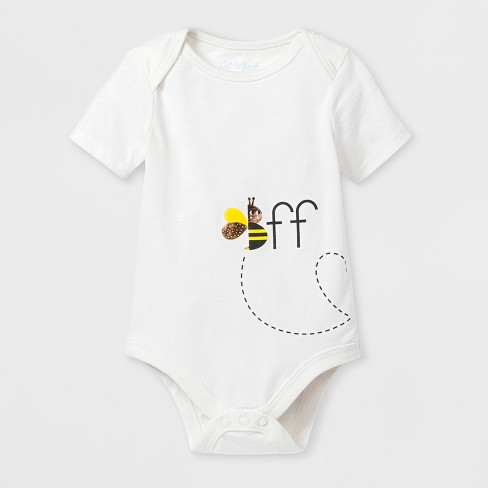 Baby 'BFF' Bee Graphic Bodysuit - Cat & Jack™ Almond Cream - image 1 of 2
