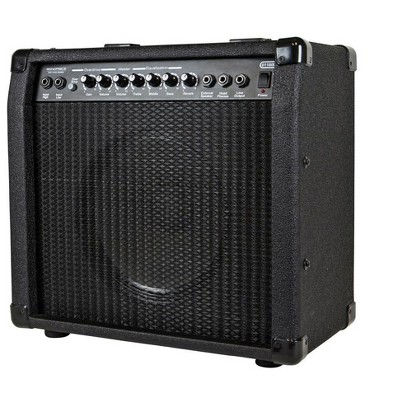 Monoprice 40-Watt 1x10 Guitar Combo Amplifier - Black with Spring Reverb, 10in 4-ohm Speaker, High & Low Inputs, Headphone Output For Electric Guitars
