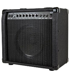 Monoprice 40-Watt 1x10 Guitar Combo Amplifier - Black with Spring Reverb, 10 inch 4-ohm Speaker, High & Low Inputs, Headphone Output For Electric