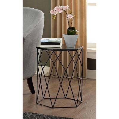 Element Geometric Side Table Midnight Black - Adore Decor