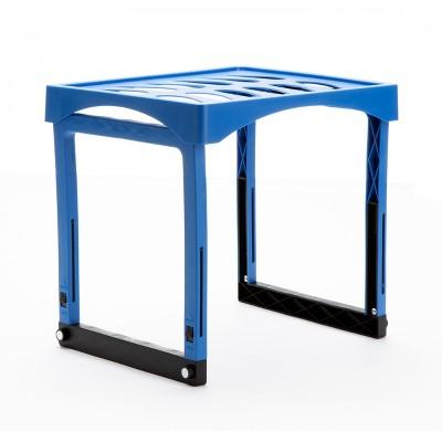 Mind Reader Heavy Duty Adjustable Height Blue Plastic Locker Shelf