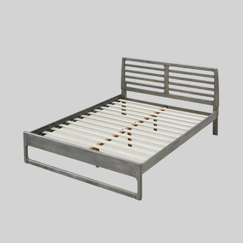 Platform Bed Rustic Gray