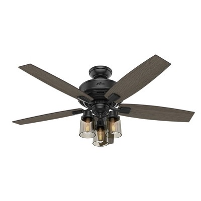 52  Bennett With Handheld Remote LED Lighted Ceiling Fan Matte Black - Hunter Fan