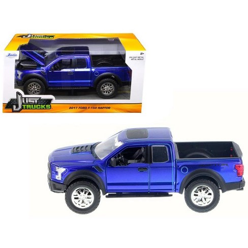 2017 Ford F 150 Raptor Pickup Truck Blue 1 24 Diecast Model Car By Jada