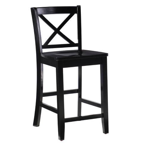 Magnificent 24 Torino X Back Wood Counter Stool Black Linon Pdpeps Interior Chair Design Pdpepsorg