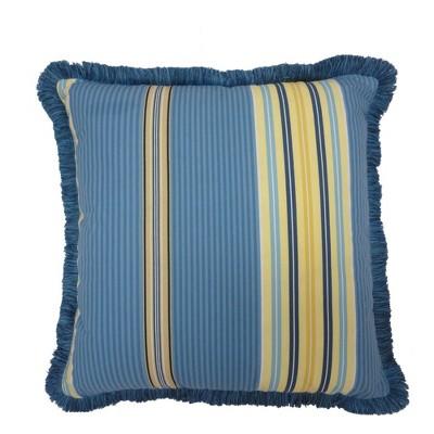 Waverly Imperiel Dress Porcelain Square 18x18 Throw Pillow Porcelain