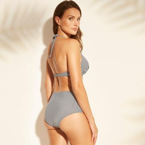 39ffbd4d6f22b Women s Tropics Light Lift Triangle Bikini Top - Shade   Shore™ Black White  Stripe 34C   Target