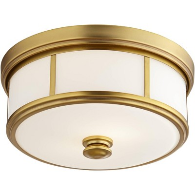 """Minka Lavery Harbour Point 13 1/2"""" Wide Etched Opal Glass Ceiling Light"""