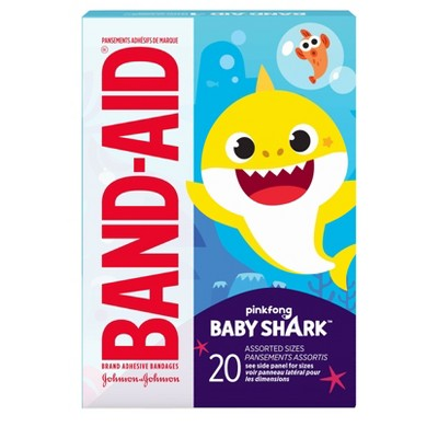 Band-Aid Bandages for Kids' Pinkfong Baby Shark Assorted - 20ct