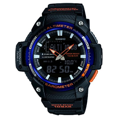 Men's Casio Analog-Digital Twin Sensor Watch - Black