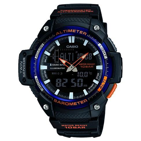 Men's Casio Analog-Digital Twin Sensor Watch - Black - image 1 of 1