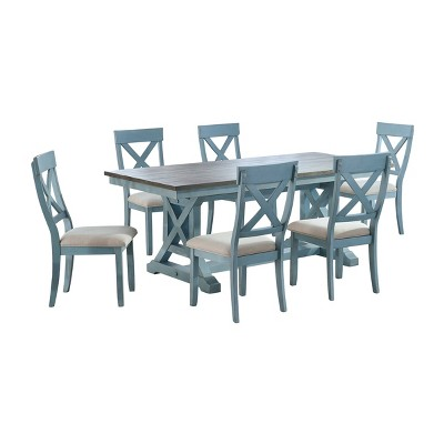 Skye Dining Table Blue - Treasure Trove Accents