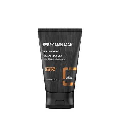 Every Man Jack Skin Clearing Activated Charcoal Face Scrub   4.2 Fl Oz by 4.2 Fl Oz