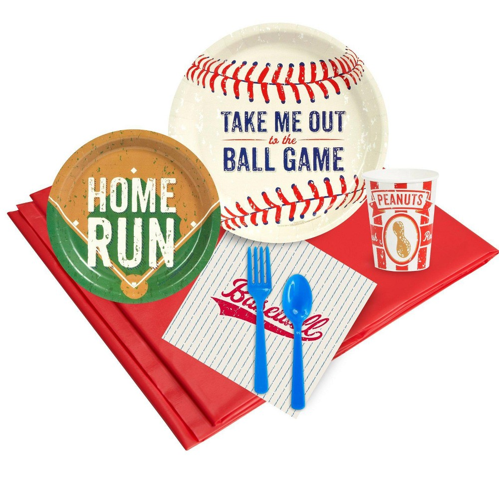 Baseball Time 16 Guest Red Party Pack