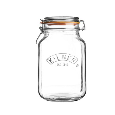 Kilner 51oz Clip Top Square Jar