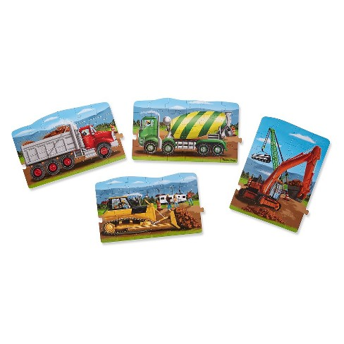 Melissa And Doug Construction 4-In-1 Jumbo Linking Floor Puzzle 96pc - image 1 of 3