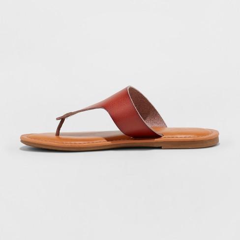 cb479747dec5 Women s Elberta Flip Flop Sandal - Universal Thread™ Brown   Target