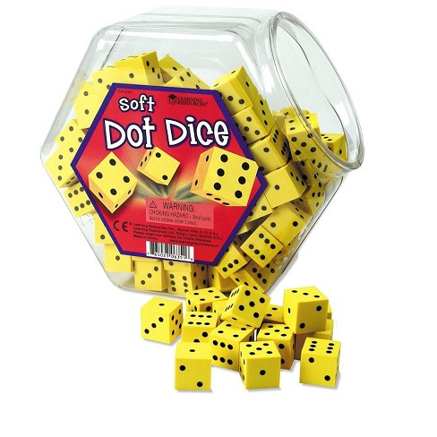 Learning Resources Hands-On-Soft Dot Dice Bucket, Ages 5 and up - image 1 of 3