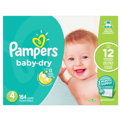 Pampers Baby Dry Diapers - Size 4 (164ct)