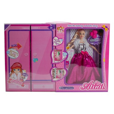 """Northlight 11"""" Pink Beauty Play Doll Set with Multiple Accessories and Wardrobe"""