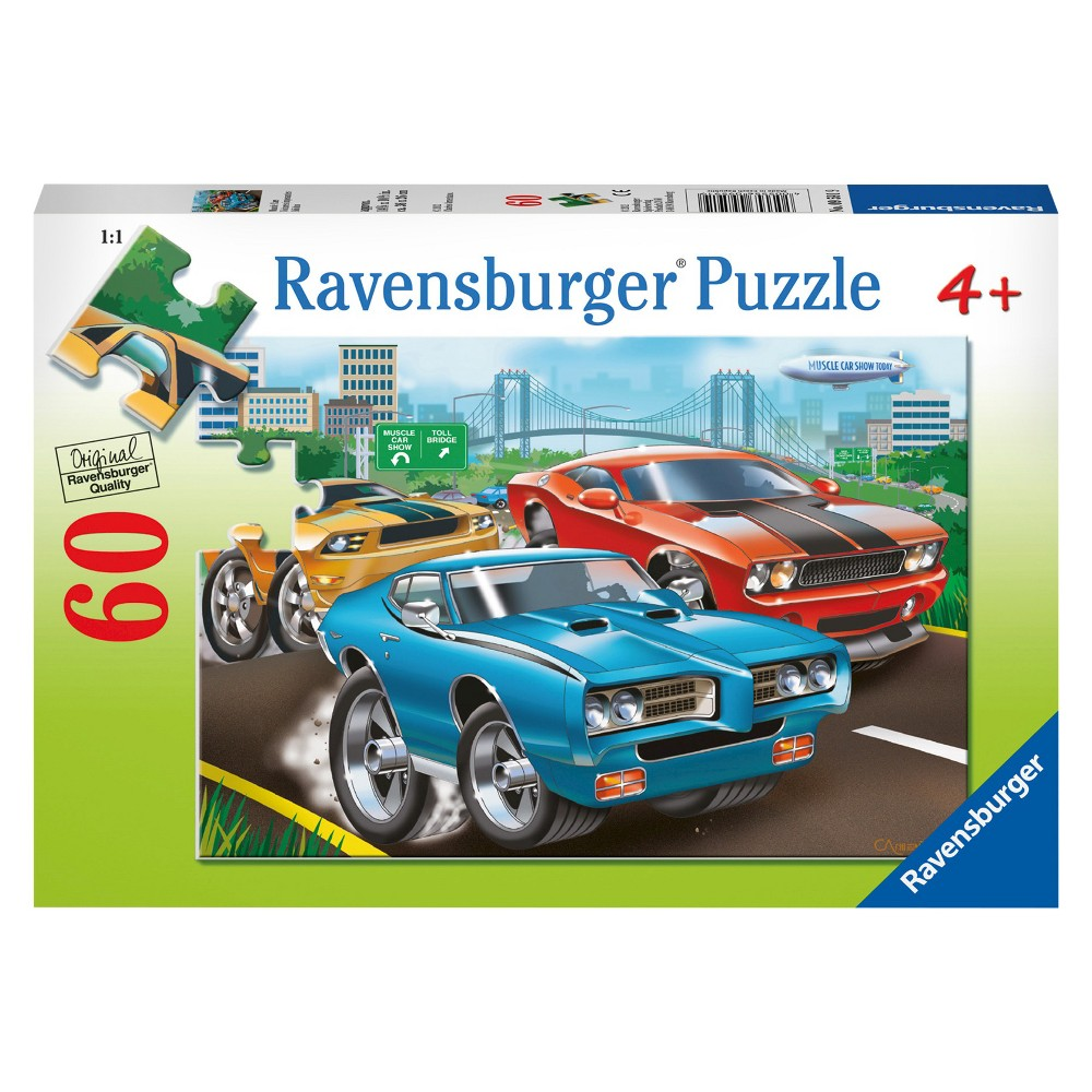 Muscle Cars 60pc Puzzle, Jigsaw Puzzles