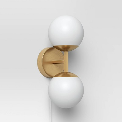 Double Globe Sconce White - Project 62™