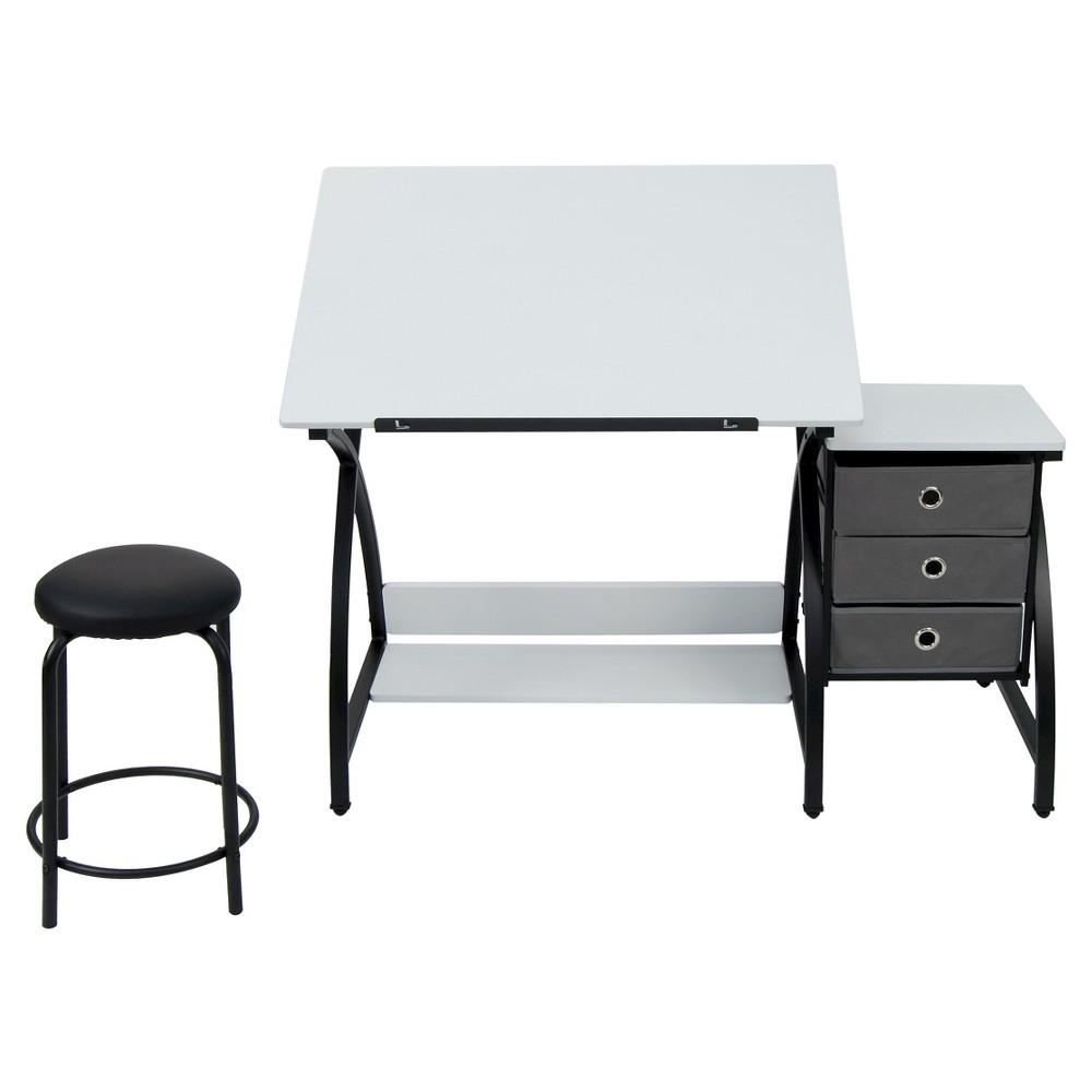 Image of 2pc Canvas & Color Adjustable Top Center Black/White - Studio Designs