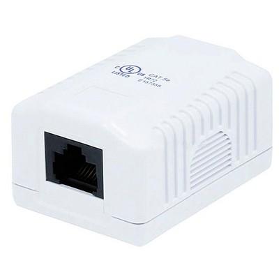 Monoprice 1-port Cat5e Surface Mount Box - White