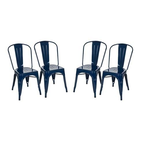 Dining Chair Navy Glitzhome