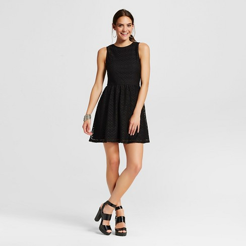 e84923ac8612 Women s Open-back Fit   Flare Dress - Xhilaration™ Black XXL   Target