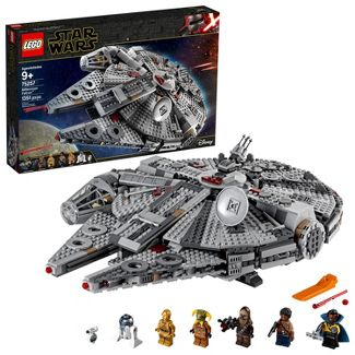 LEGO Star Wars: The Rise of Skywalker Millennium Falcon Building Kit Starship Model with Minifigures 75257