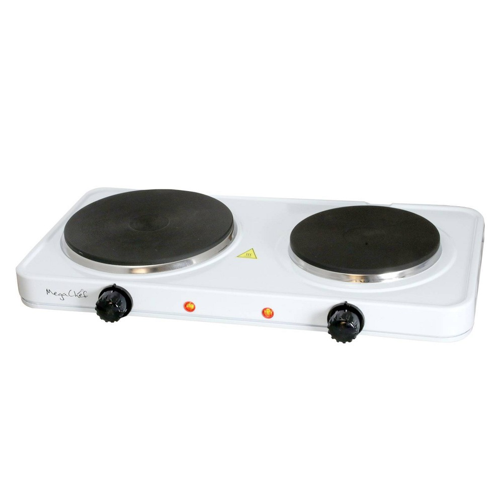 Image of MegaChef Portable Dual Electric Cooktop - White