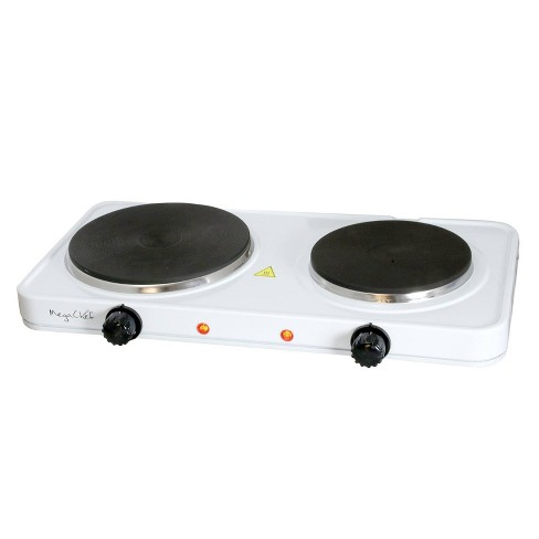 MegaChef Portable Dual Electric Cooktop - White - image 1 of 4