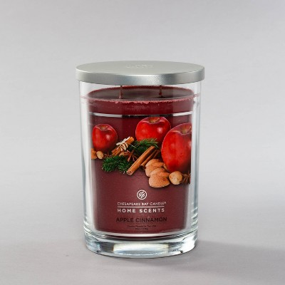 19oz Glass Jar 2-Wick Candle Apple Cinnamon - Home Scents By Chesapeake Bay Candle