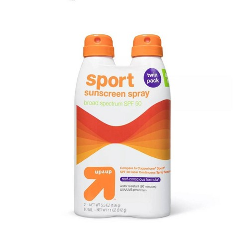 Sport Sunscreen Spray - SPF 50 - 2pk/11oz - up & up™ - image 1 of 2