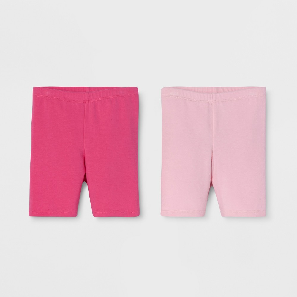 Toddler Girls' Trouser Shorts - Cat & Jack Dark Pink/Light Pink 3T