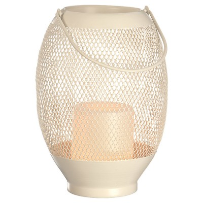 8.5  Metal Wire Mesh Outdoor Lantern Flameless Candle - Cream - Room Essentials™
