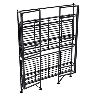 "32.87"" 3 Tier Wide Folding Metal Shelf Black - Breighton Home : Target"
