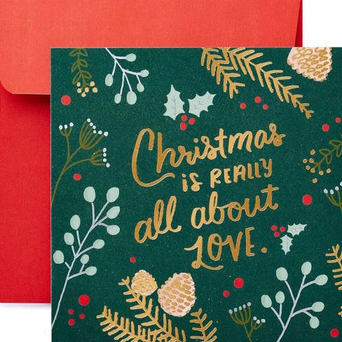 Peachy All About Love Christmas Greeting Card Target Funny Birthday Cards Online Fluifree Goldxyz