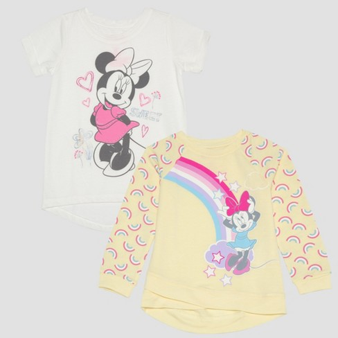 09aa5e75a Toddler Girls' 2pc Disney Mickey Mouse & Friends Minnie Mouse T-Shirts -  Yellow : Target