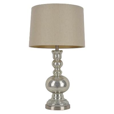 J. Hunt Mercury Glass Table Lamp - Silver/Natural (29.5 )