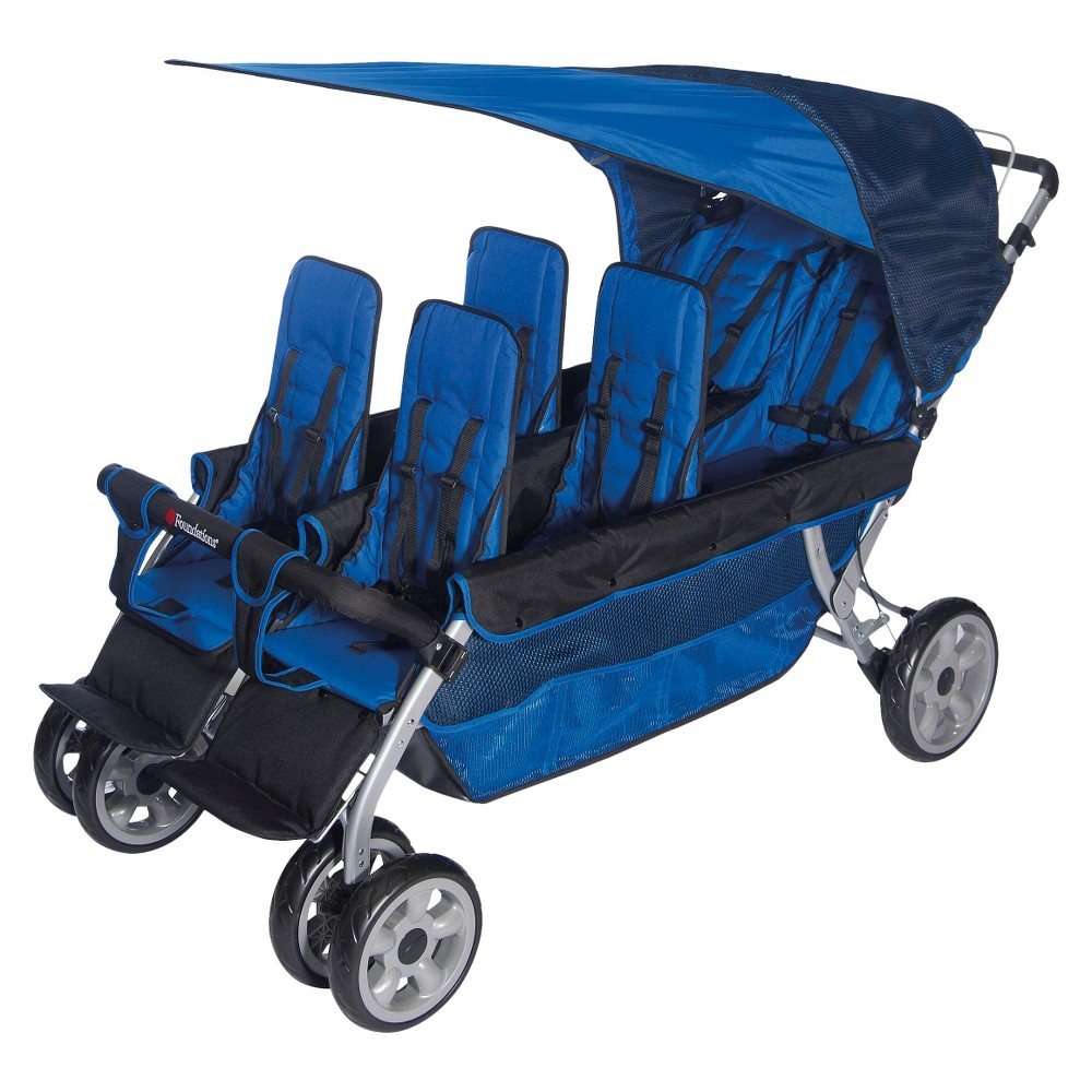 Image of Foundations LX6 Six Passenger Stroller - Blue