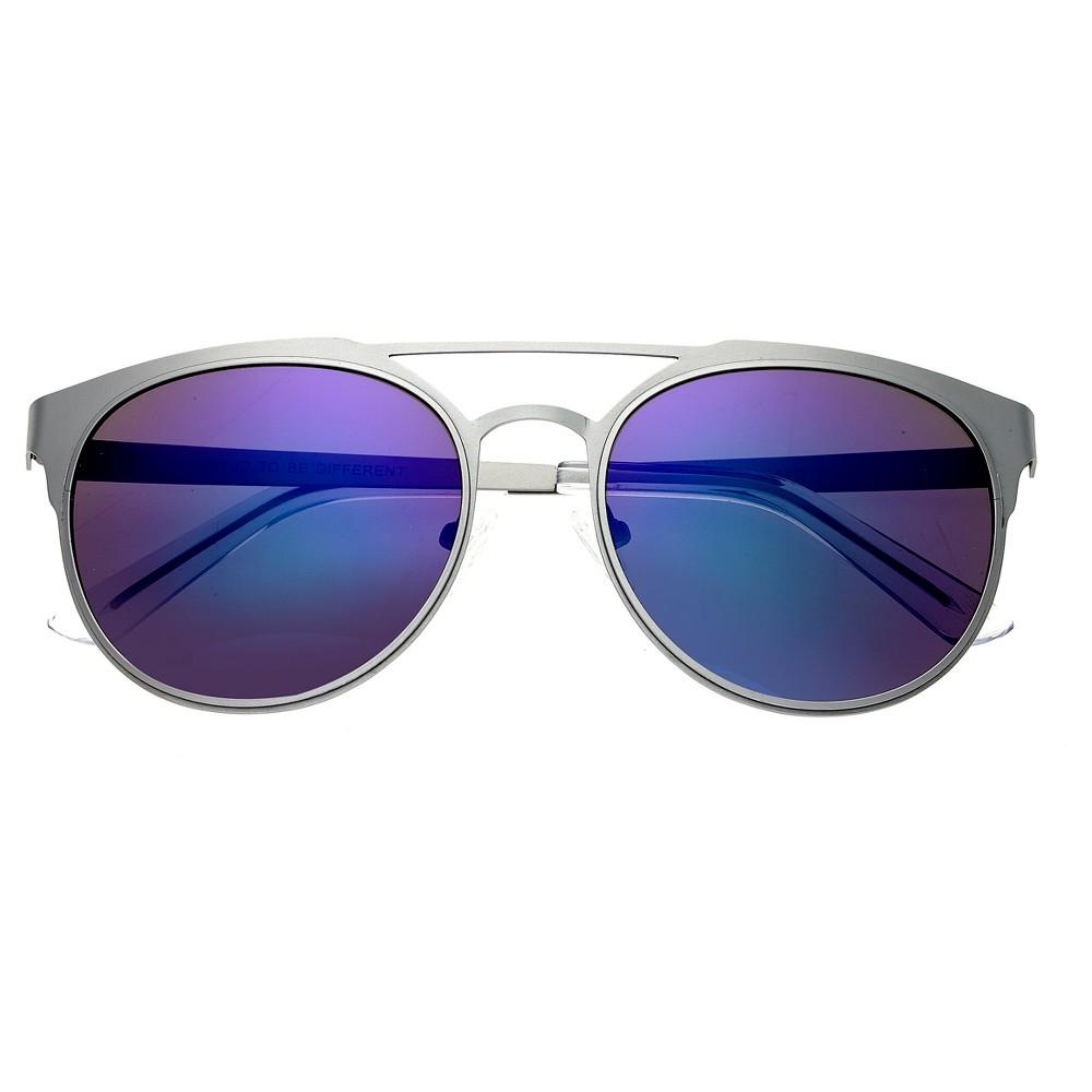 Breed Mensa Titanium Sunglasses - Silver/Blue, Men's, Silver Lining