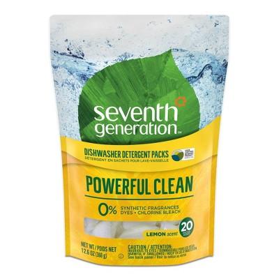 Seventh Generation Auto Dish Detergent Packs - Lemon - 20ct