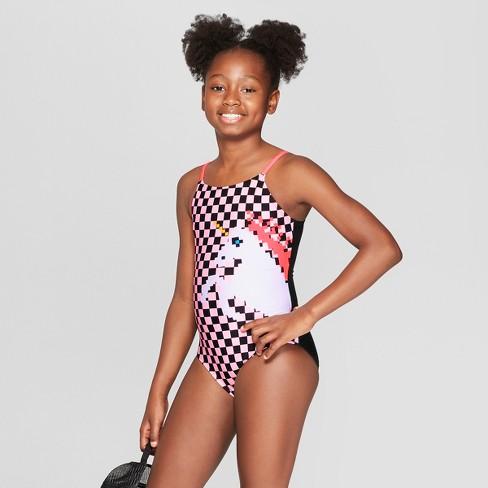 283b424ebf Girls' Little 8 Bitty Unicorn One Piece Swimsuit - Art Class™ Black : Target