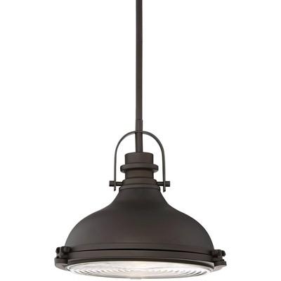 "Possini Euro Design Bronze Dome Mini Pendant Light 11 1/2"" Wide Industrial Rustic Urban Barn Fixture Kitchen Island Dining Room"